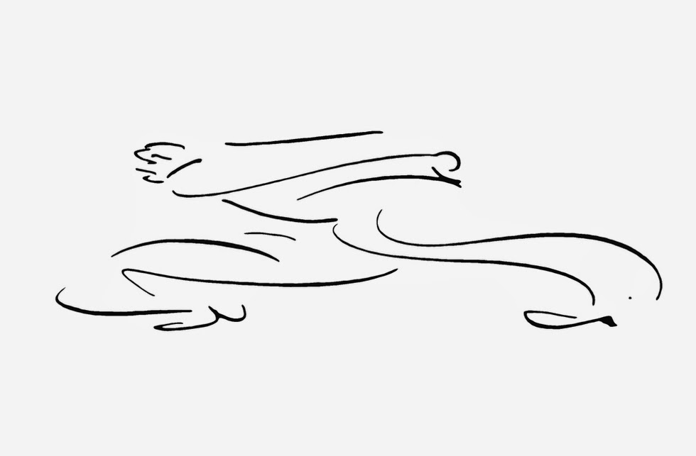Crtez Franca Kafke iz Nestanka, 1912/1913.godina-Tri trkaca